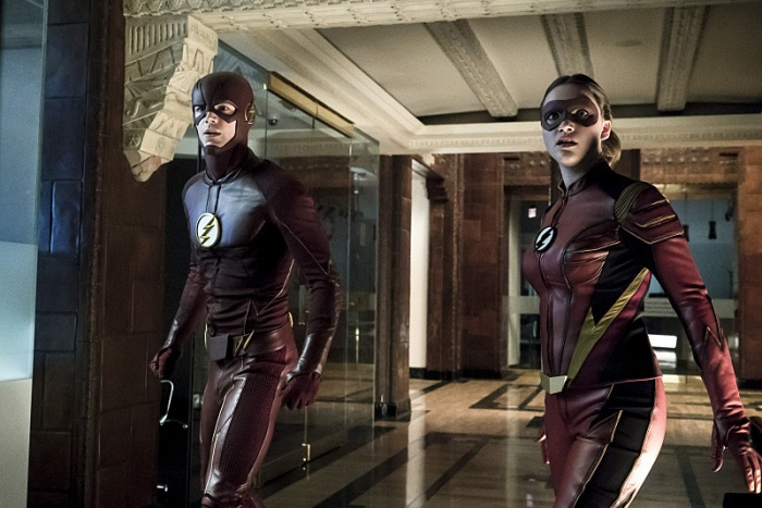 "The Flash -- ""The New Rouges"" -- Image FLA304a_0085b.jpg -- Pictured (L-R): Grant Gustin as The Flash and Violett Beane as Jesse Quick -- Photo: Katie Yu/The CW -- © 2016 The CW Network, LLC. All rights reserved."